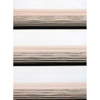 Zebra pleated curtain, large glossy strip, code 2038