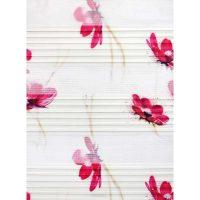 Printed pleated zebra curtain code 2091