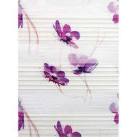 Printed pleated zebra curtain code 2092